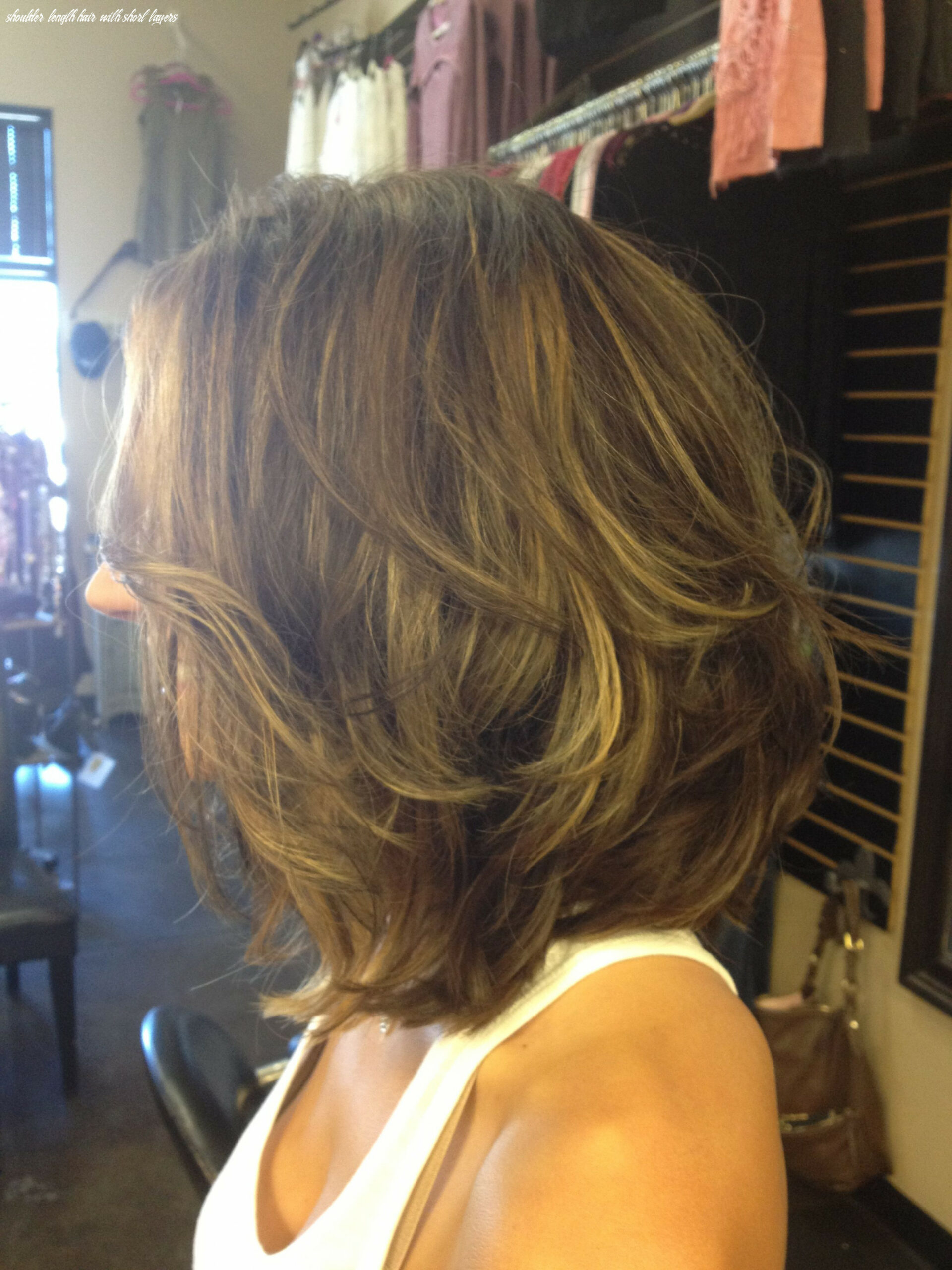 Pin on hair styles shoulder length hair with short layers