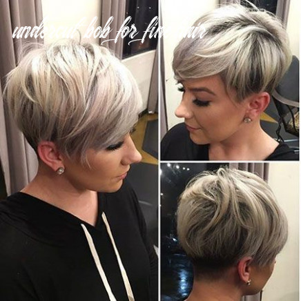 Pin on hair styles undercut bob for fine hair