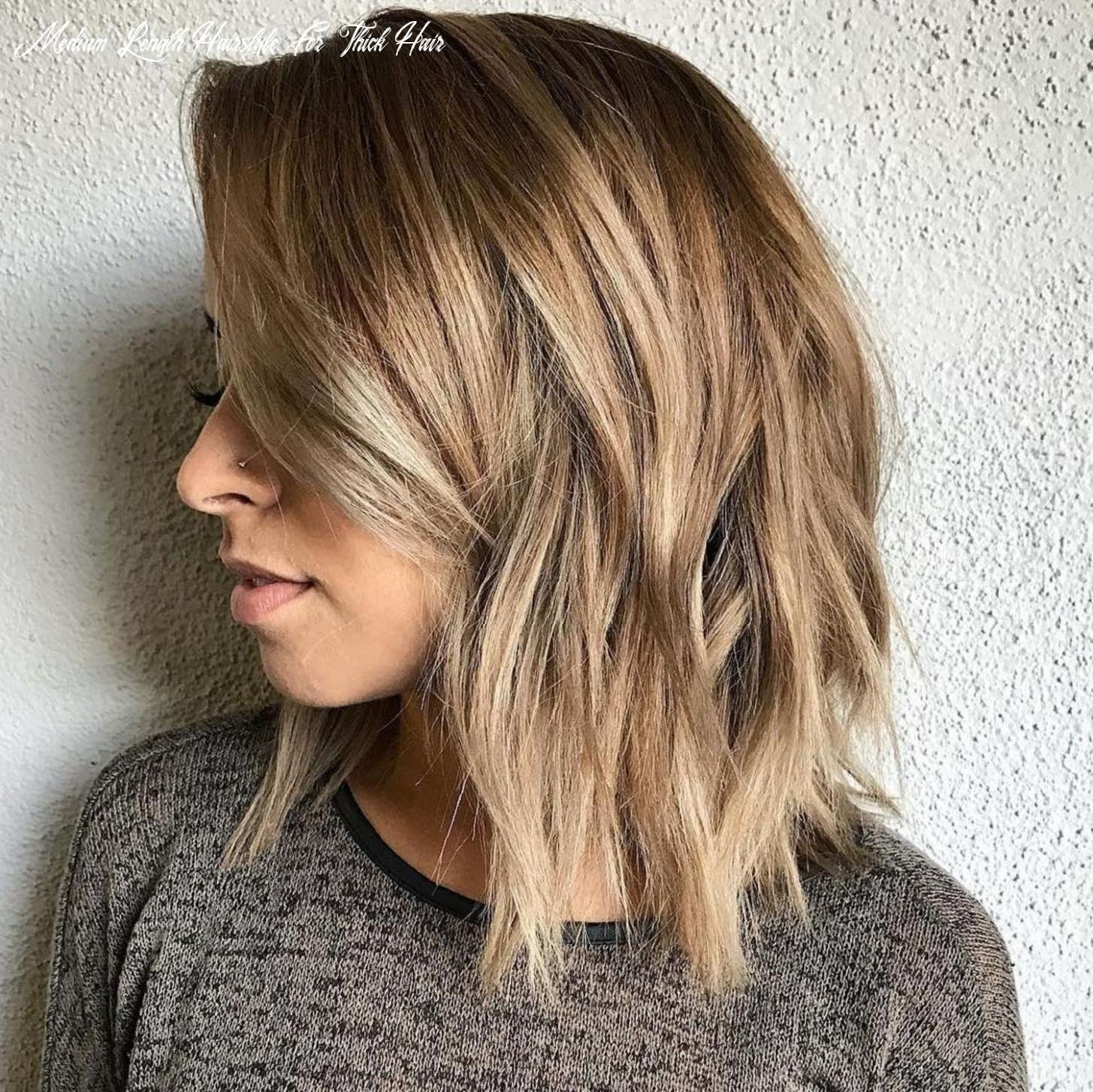 Pin on hair trends medium length hairstyle for thick hair
