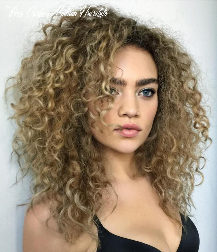 Pin on hair very curly medium hairstyle