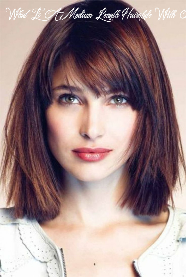 Pin on hair what is a medium length hairstyle with a fringe called