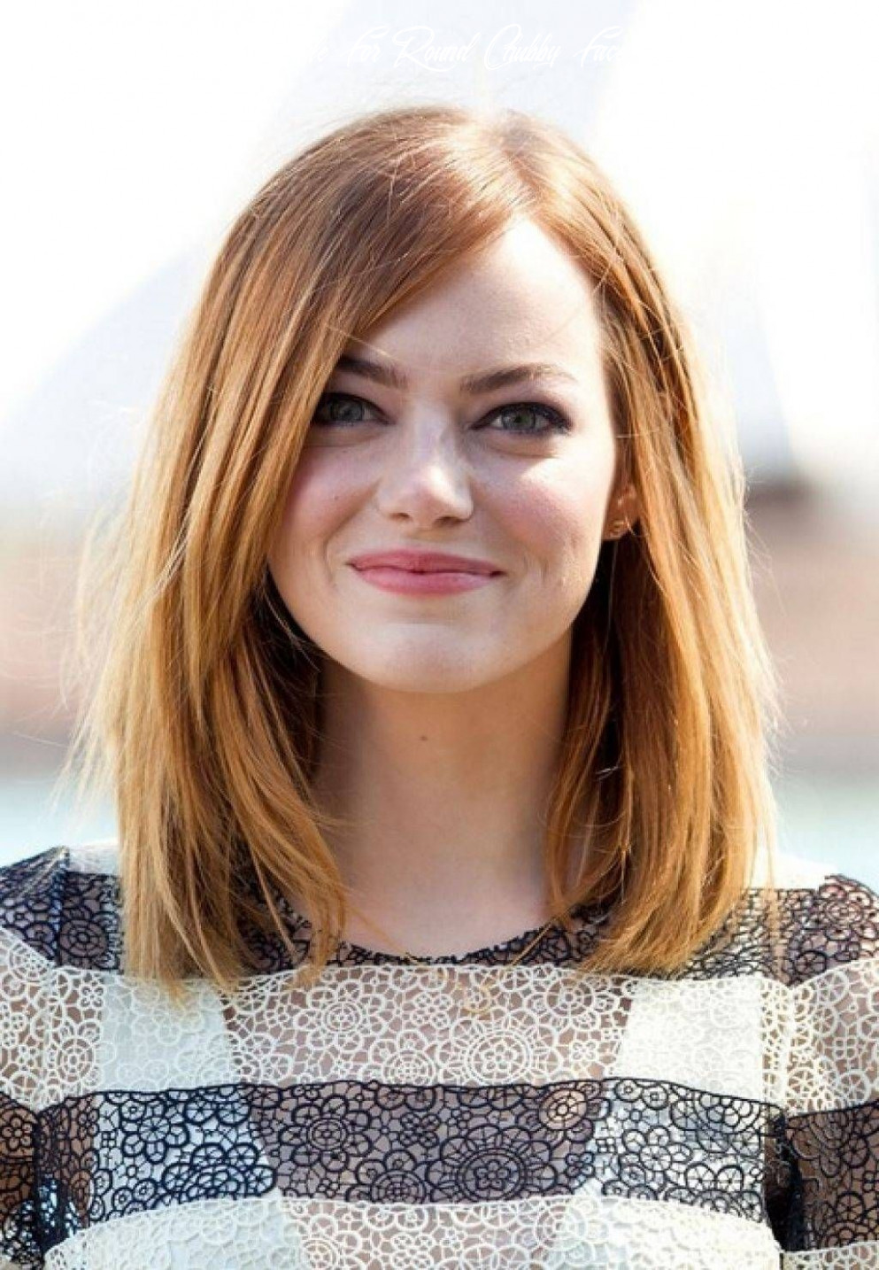 Pin on haircut length medium length hairstyle for round chubby face