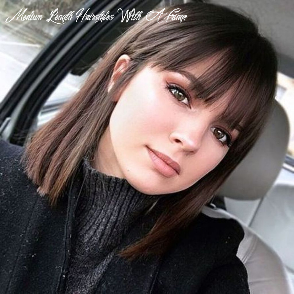 Pin on haircut medium length hairstyles with a fringe