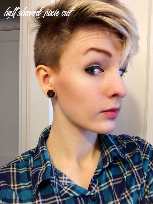 Pin on haircuts half shaved pixie cut