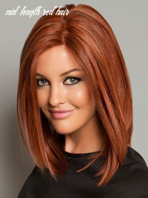 Pin on hairdos mid length red hair