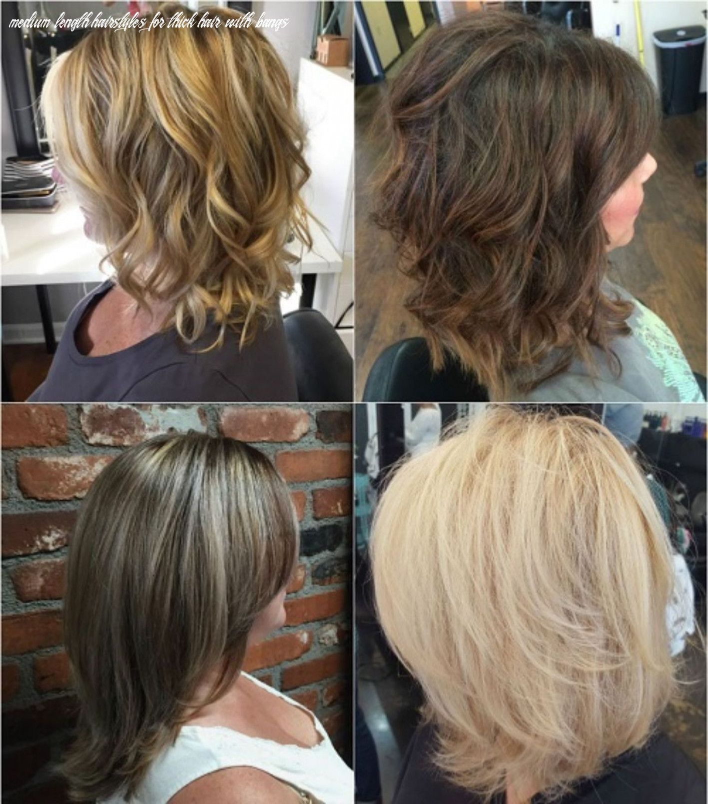 Pin on hairrcuts medium length hairstyles for thick hair with bangs