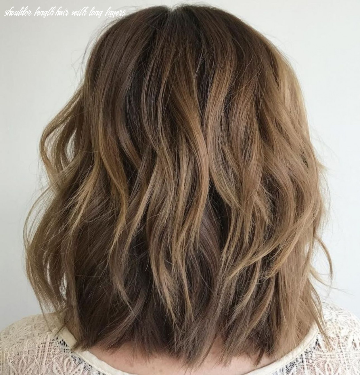 Pin on hairstyle for wedding shoulder length hair with long layers