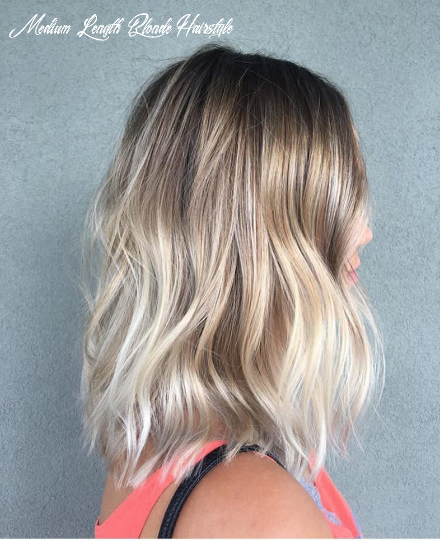Pin on hairstyle inspo (wol) medium length blonde hairstyle