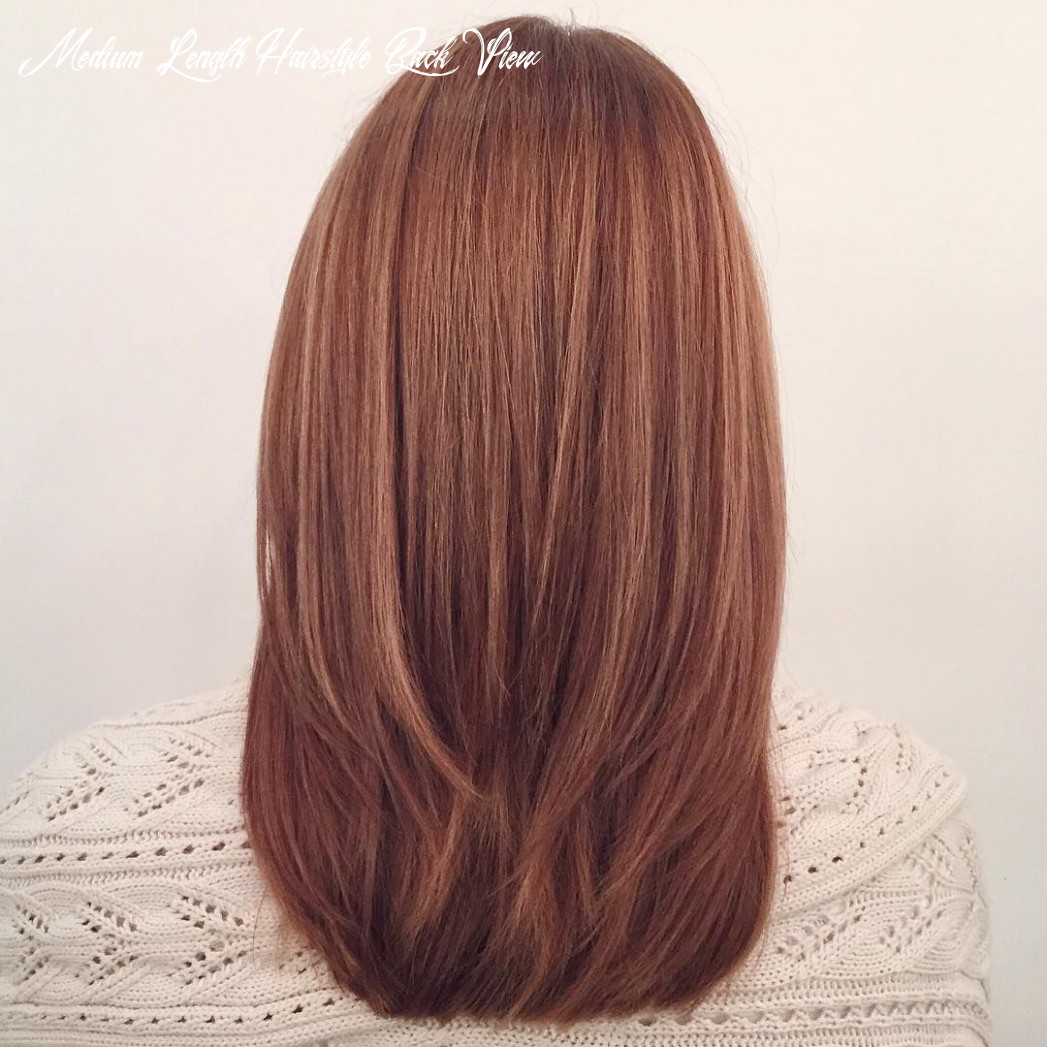 Pin on hairstyle medium length hairstyle back view