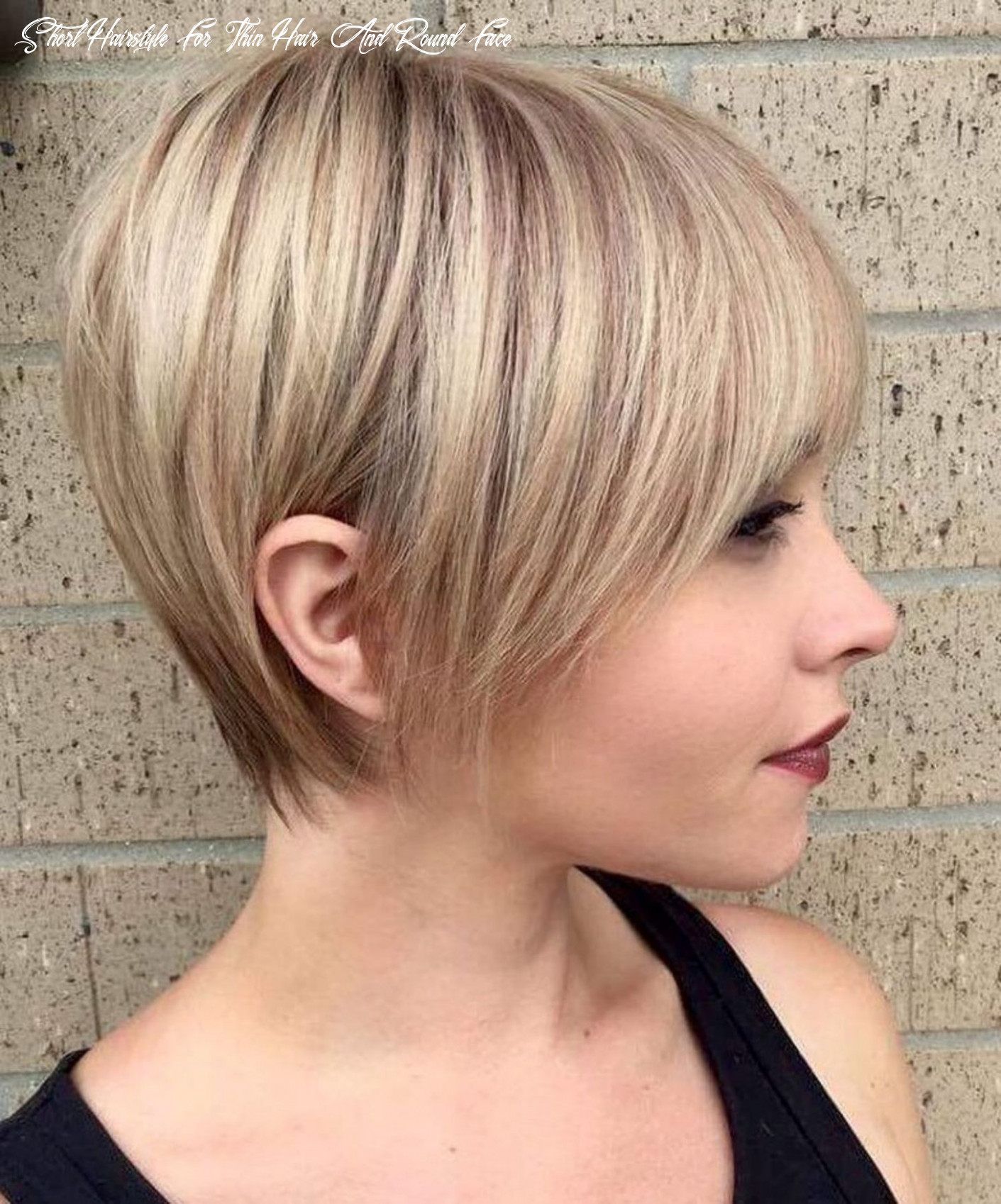 Pin on hairstyle short hairstyle for thin hair and round face