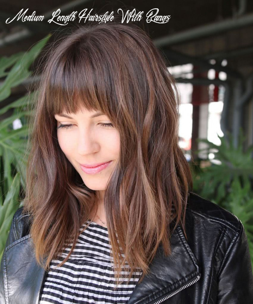 Pin on hairstyles 12 medium length hairstyle with bangs
