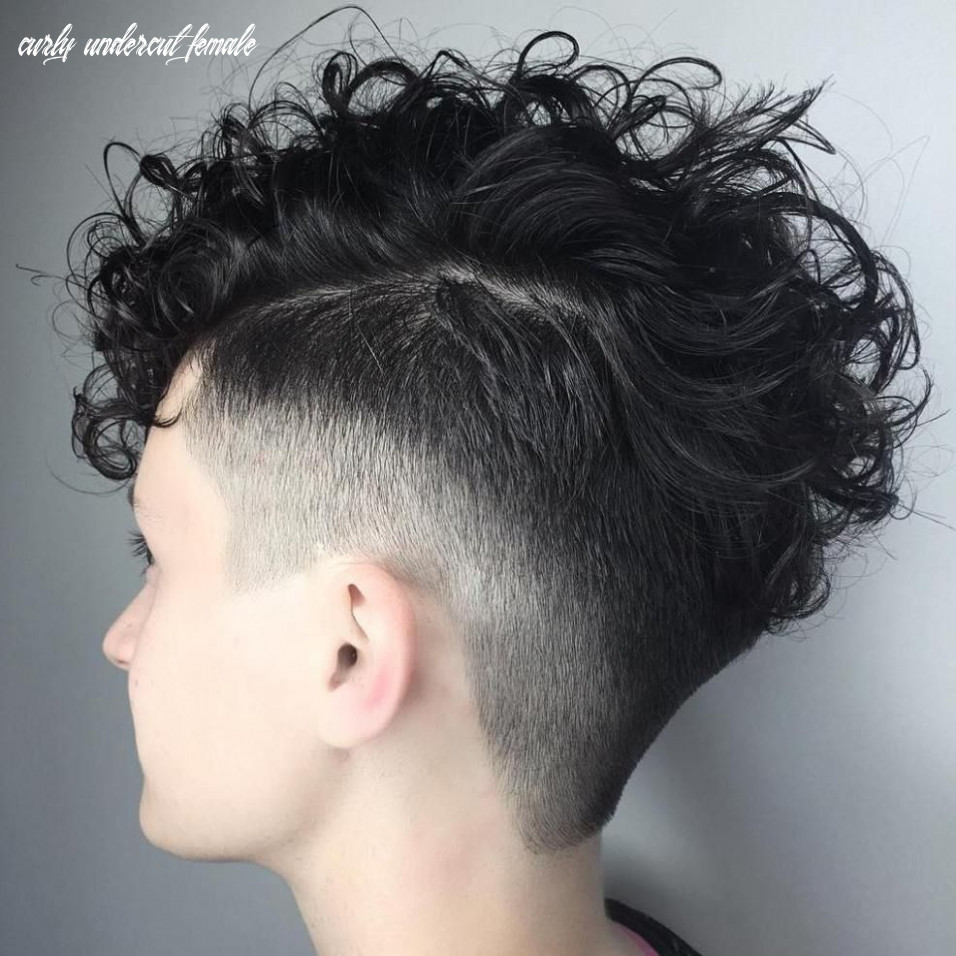 Pin on hairstyles curly undercut female