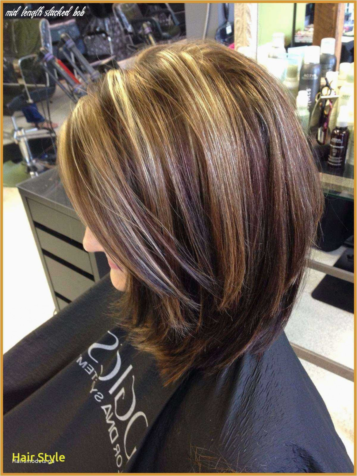 Pin on hairstyles for medium length hair mid length stacked bob
