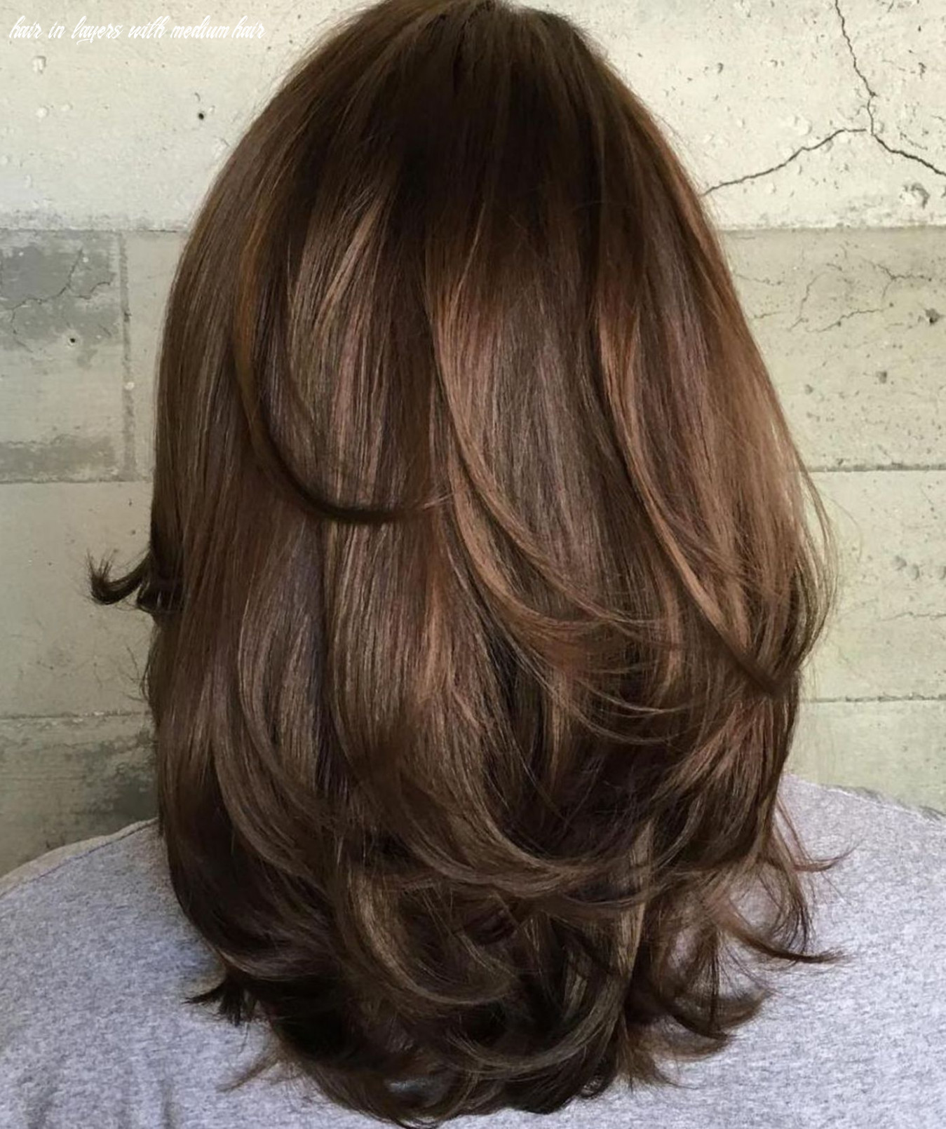 Pin on hairstyles hair in layers with medium hair
