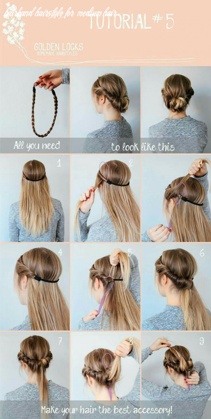 Pin on hairstyles hairband hairstyle for medium hair
