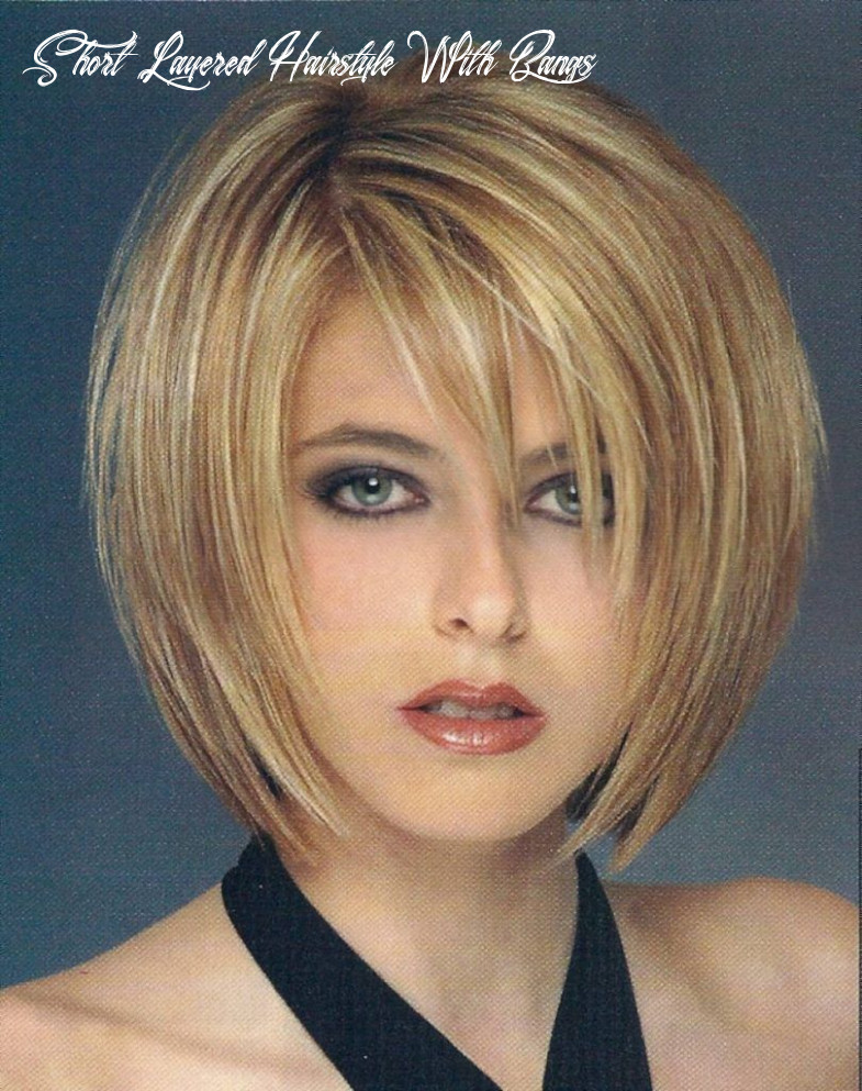 Pin on hairstyles ideas short layered hairstyle with bangs