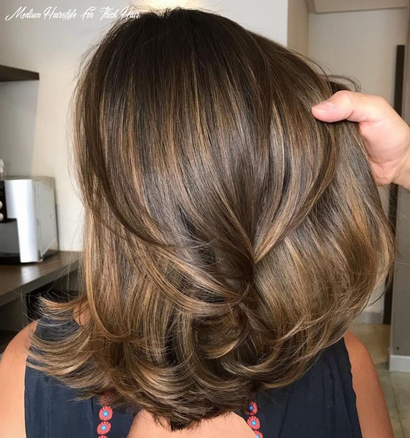 Pin on hairstyles medium hairstyle for thick hair