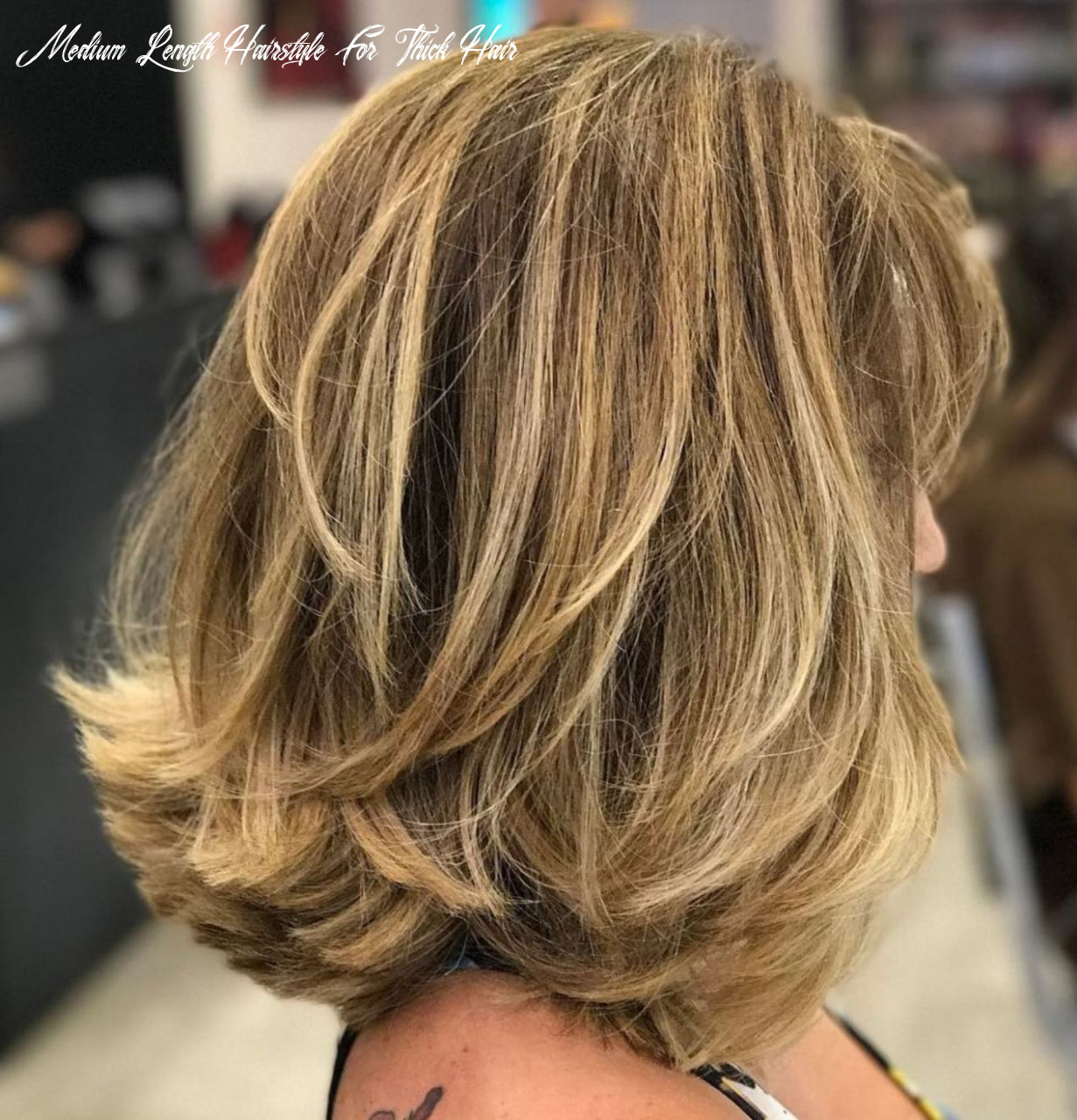Pin on hairstyles medium length hairstyle for thick hair