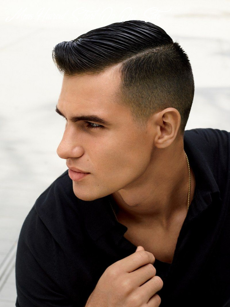 Pin on hairstyles mens haircut short on one side