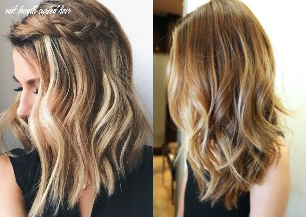 Pin on hairstyles mid length curled hair