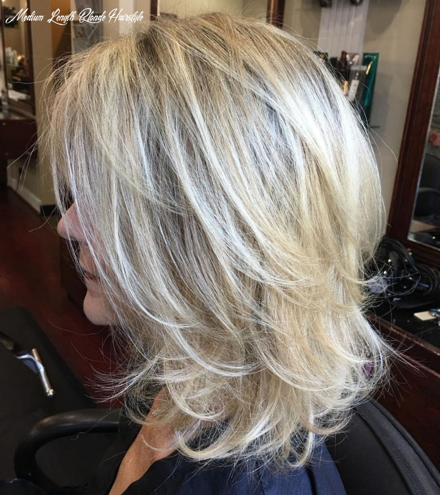 Pin on hairstyles , nails @ eyes @lips medium length blonde hairstyle