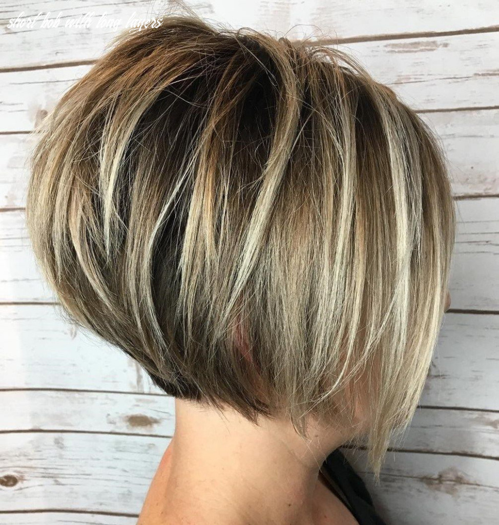 Pin on hairstyles short bob with long layers