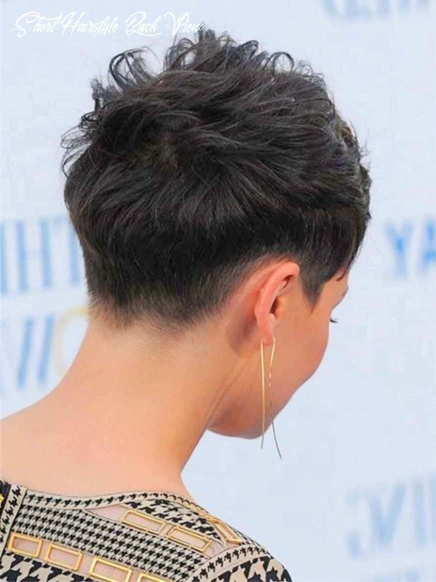 Pin on hairstyles short hairstyle back view