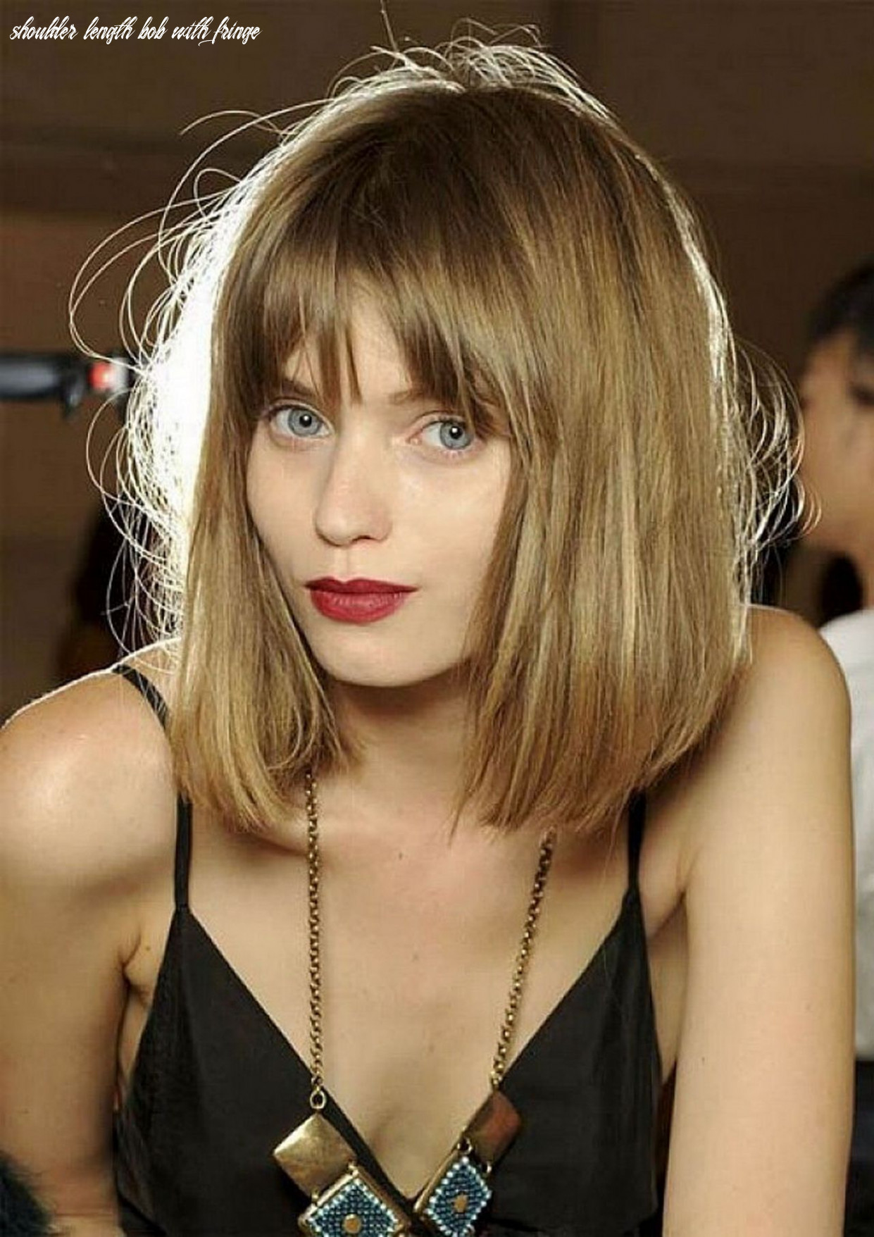 Pin on hairstyles shoulder length bob with fringe