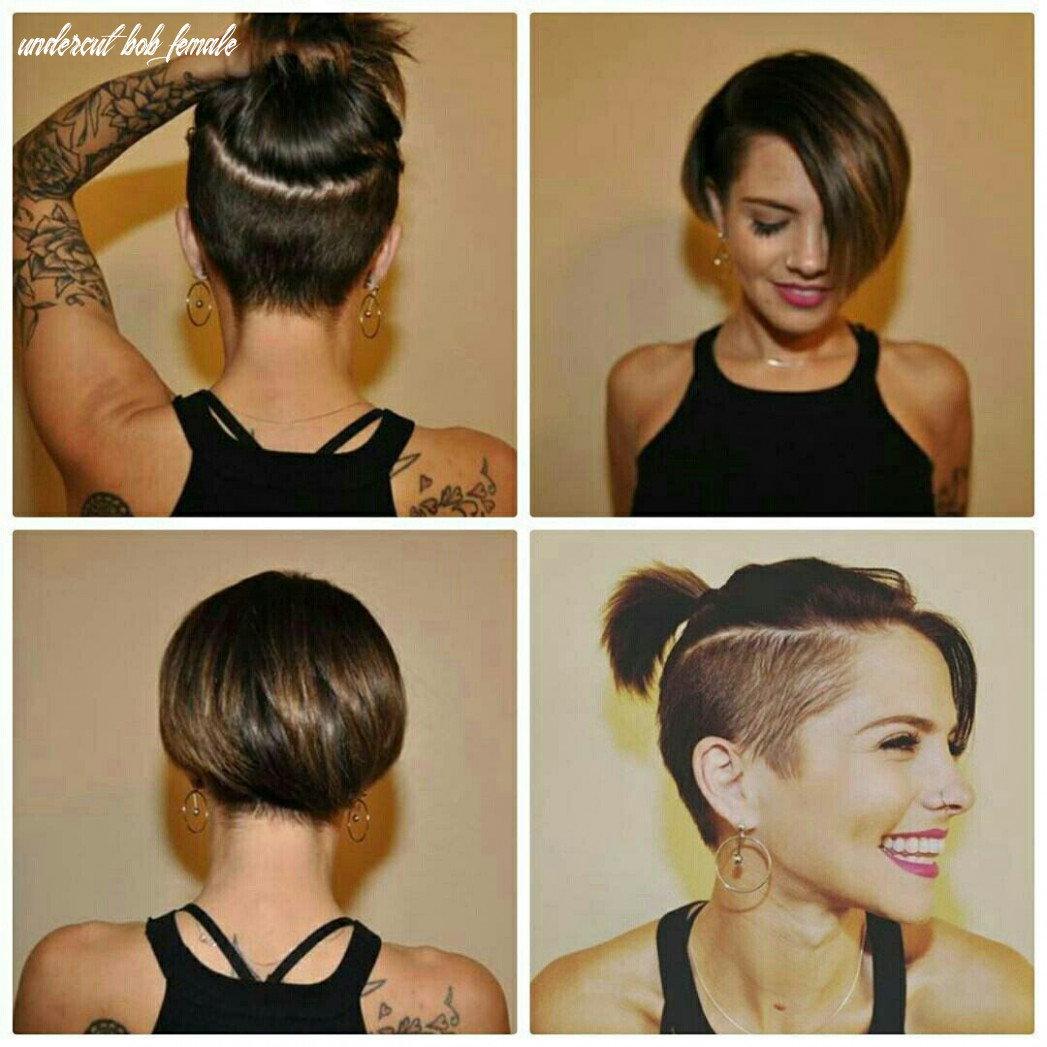 Pin on her hair undercut bob female