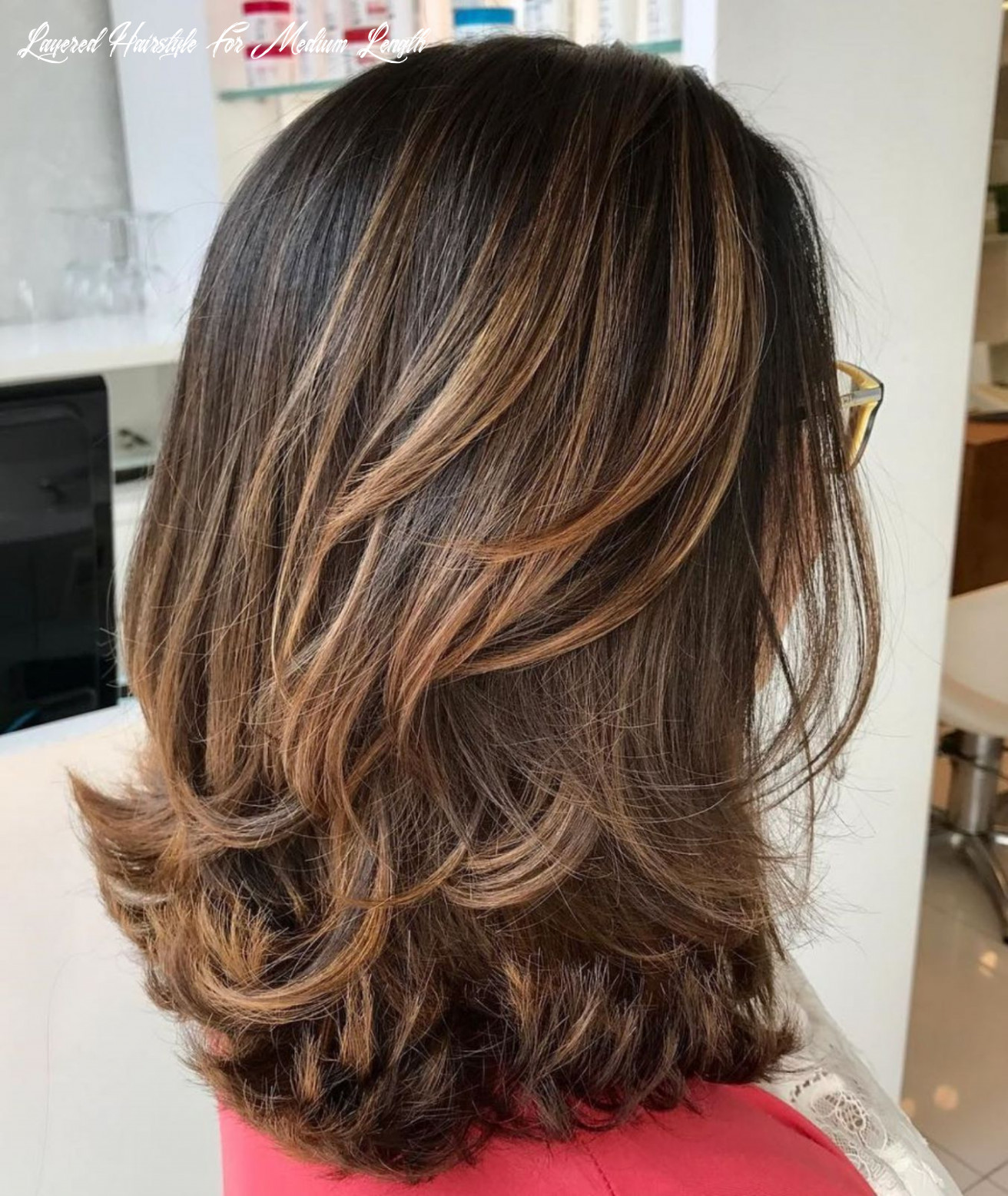 Pin on her layered hairstyle for medium length