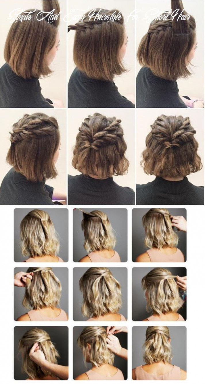 Pin on home simple and easy hairstyle for short hair