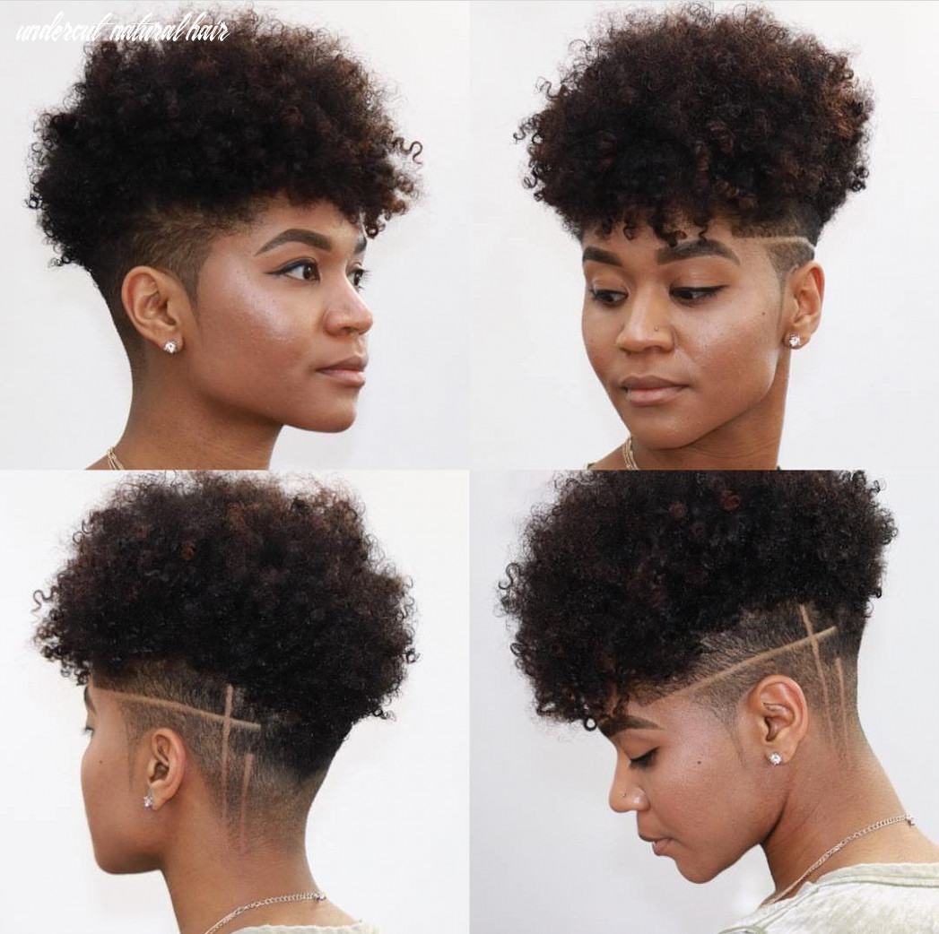 Pin on kinky curly undercut natural hair