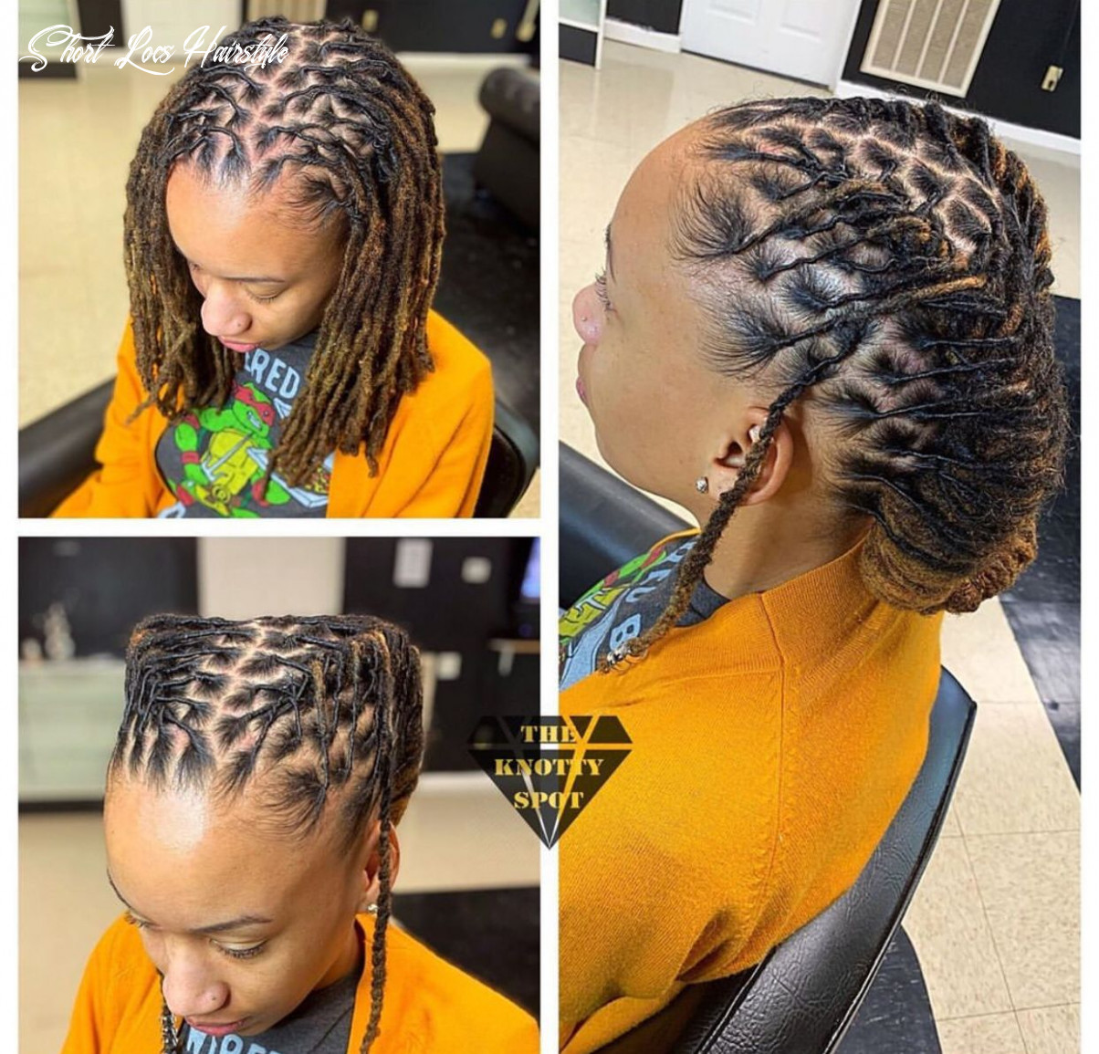 Pin on locs of love short locs hairstyle