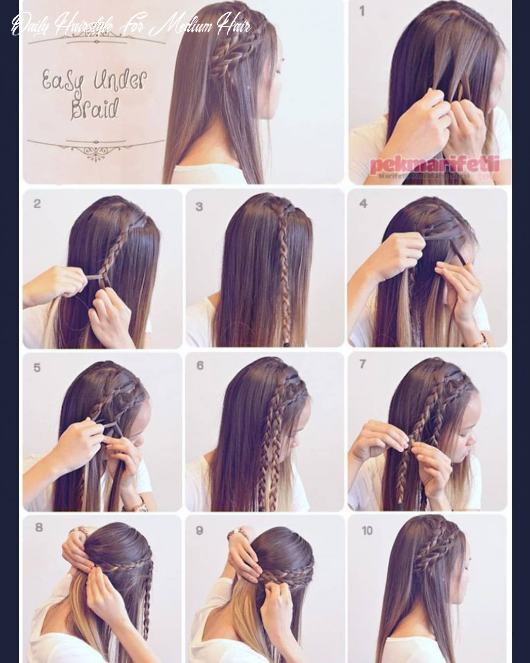 Pin on makeup & hair daily hairstyle for medium hair