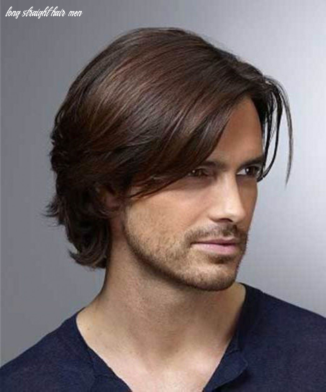 Pin on male body reference long straight hair men