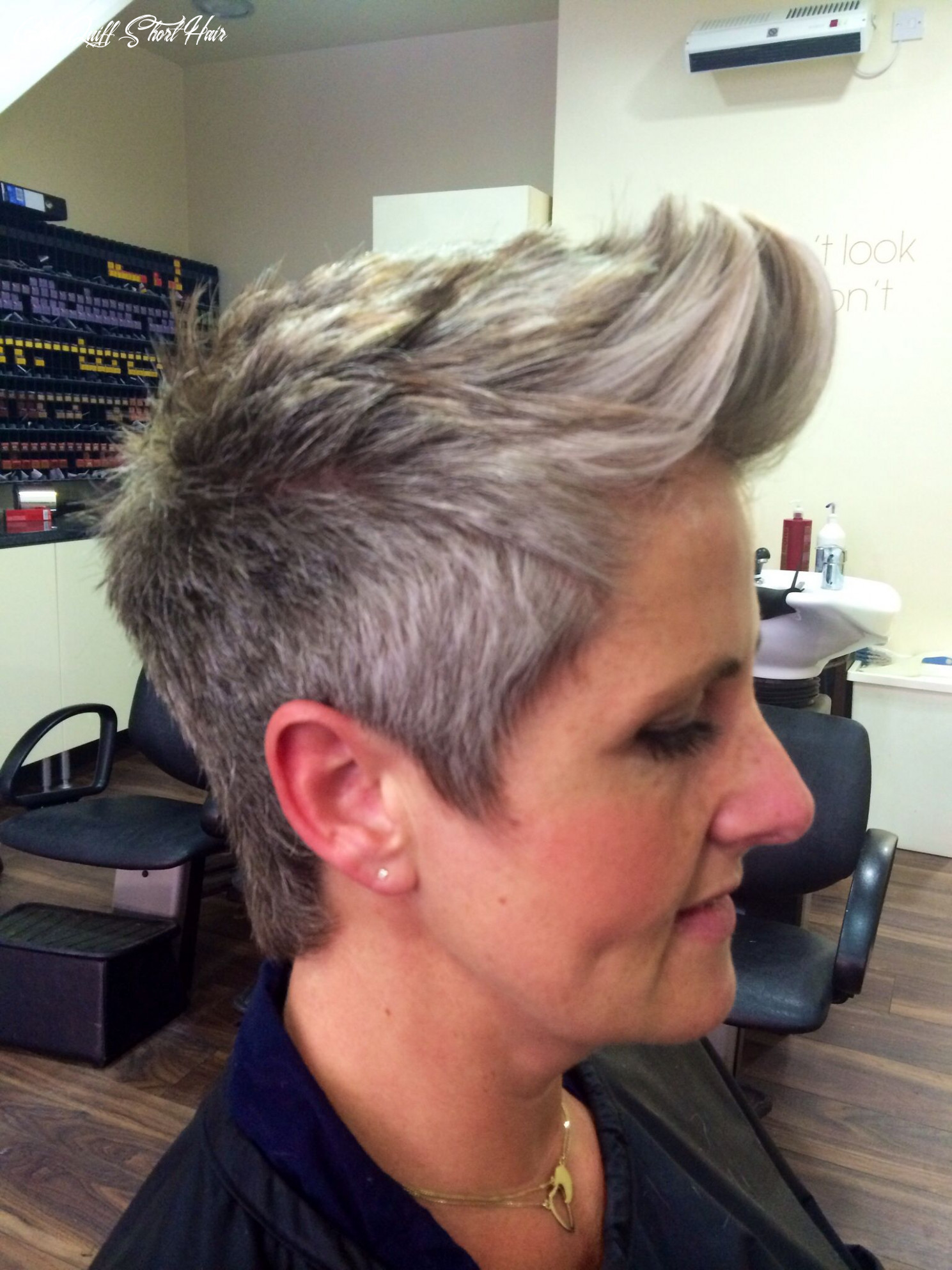 Pin on mane girl quiff short hair