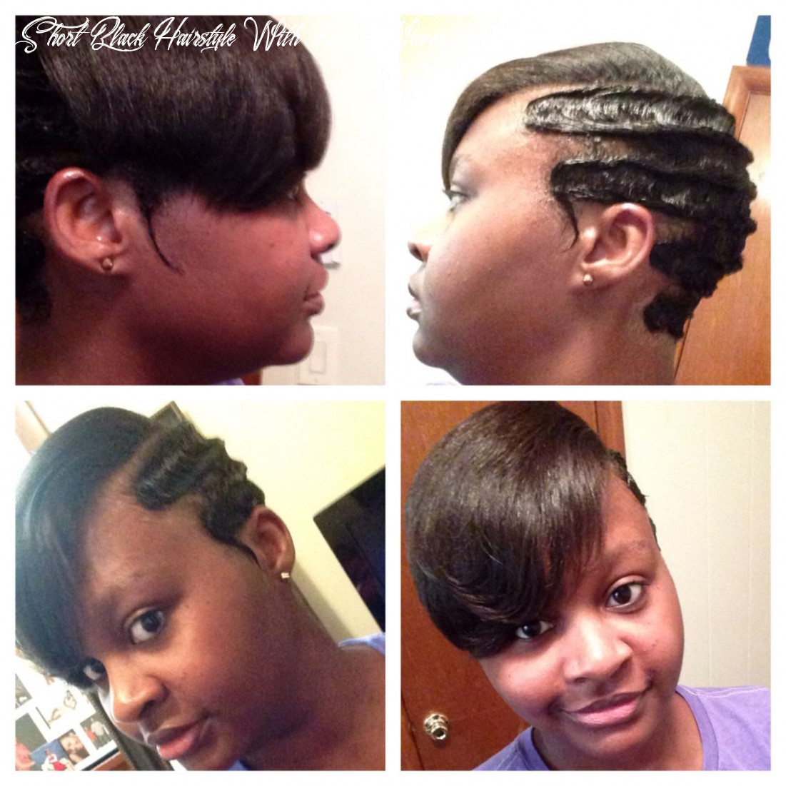 Pin on my hairstyles short black hairstyle with finger waves