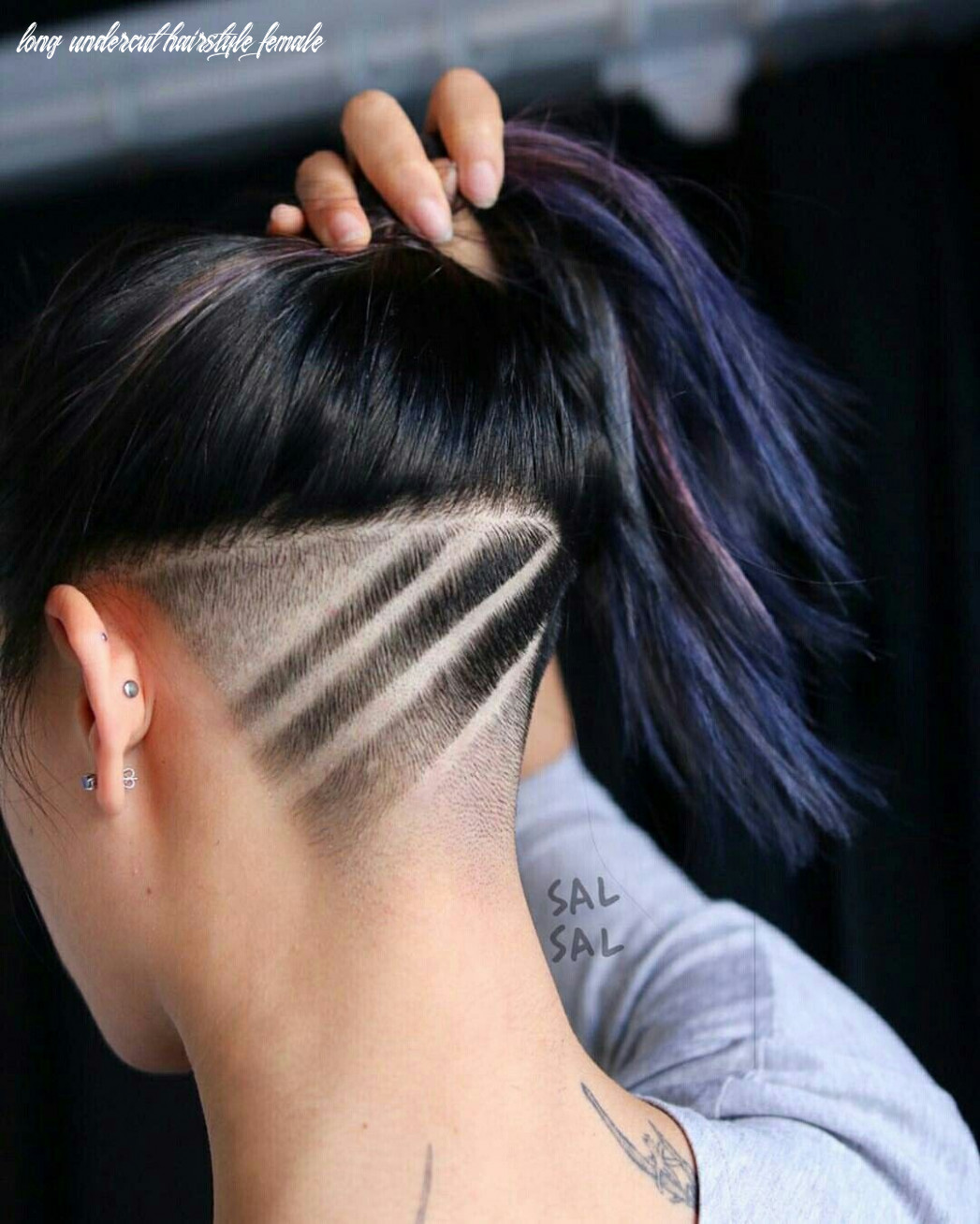 Pin on my style long undercut hairstyle female