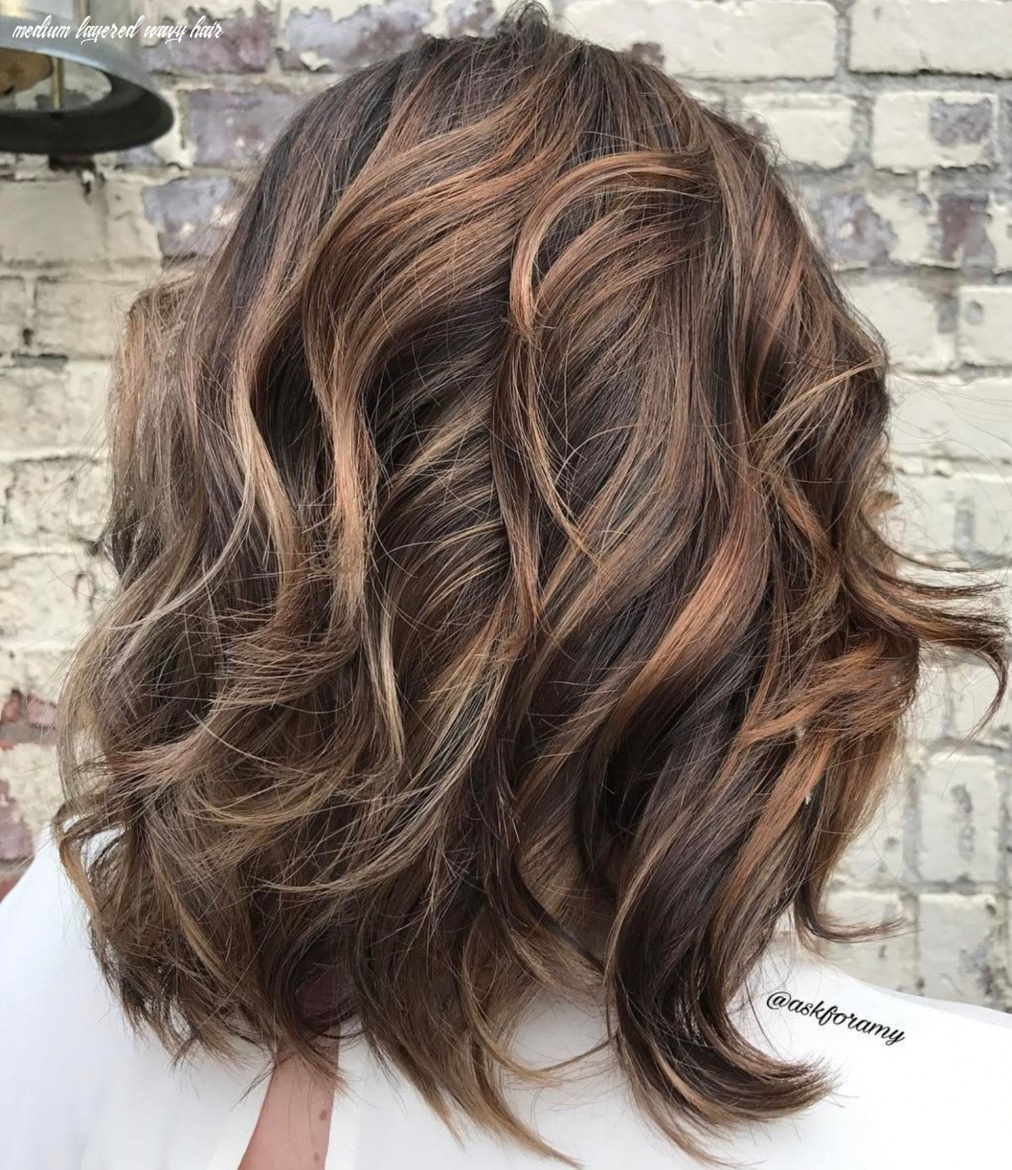 Pin on my style medium layered wavy hair