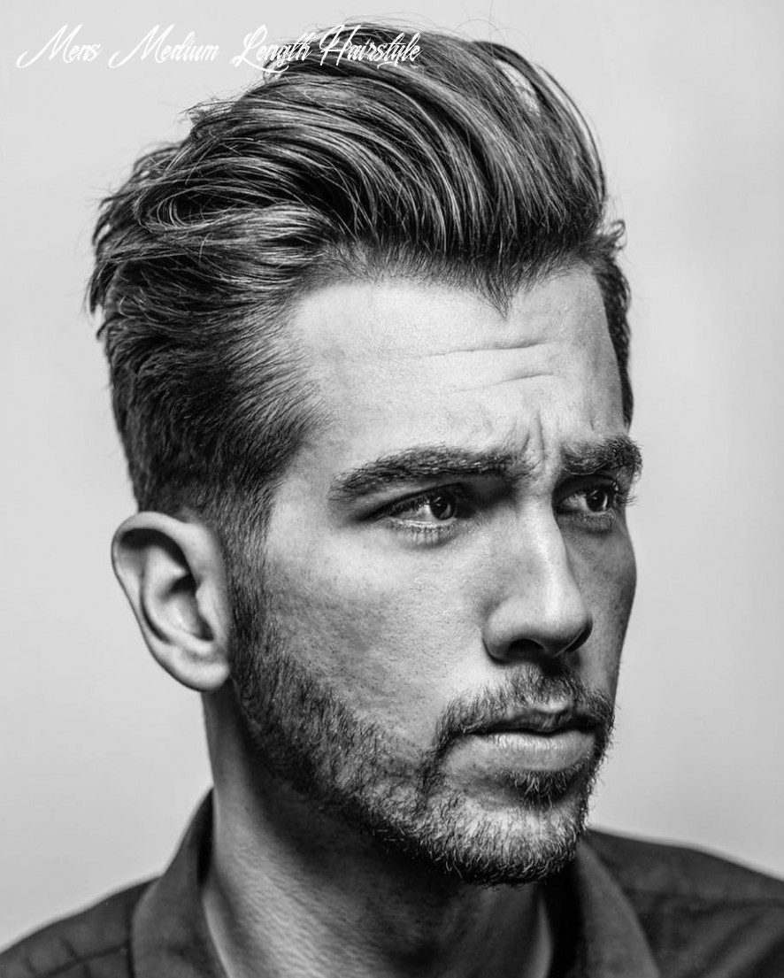 Pin on my style mens medium length hairstyle