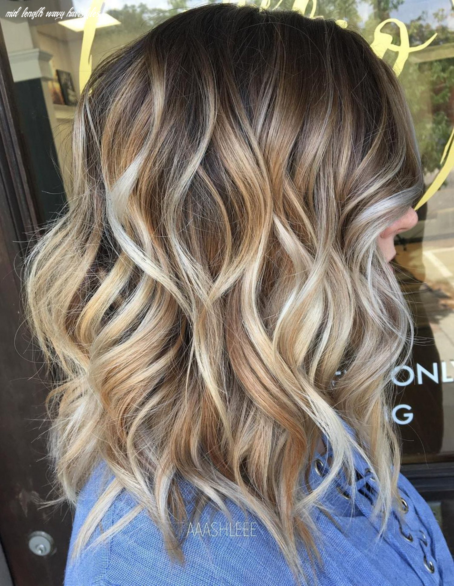 Pin on my style mid length wavy hairstyles