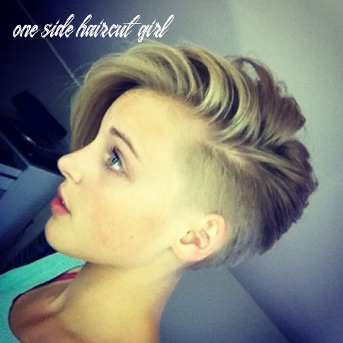 Pin on my style one side haircut girl