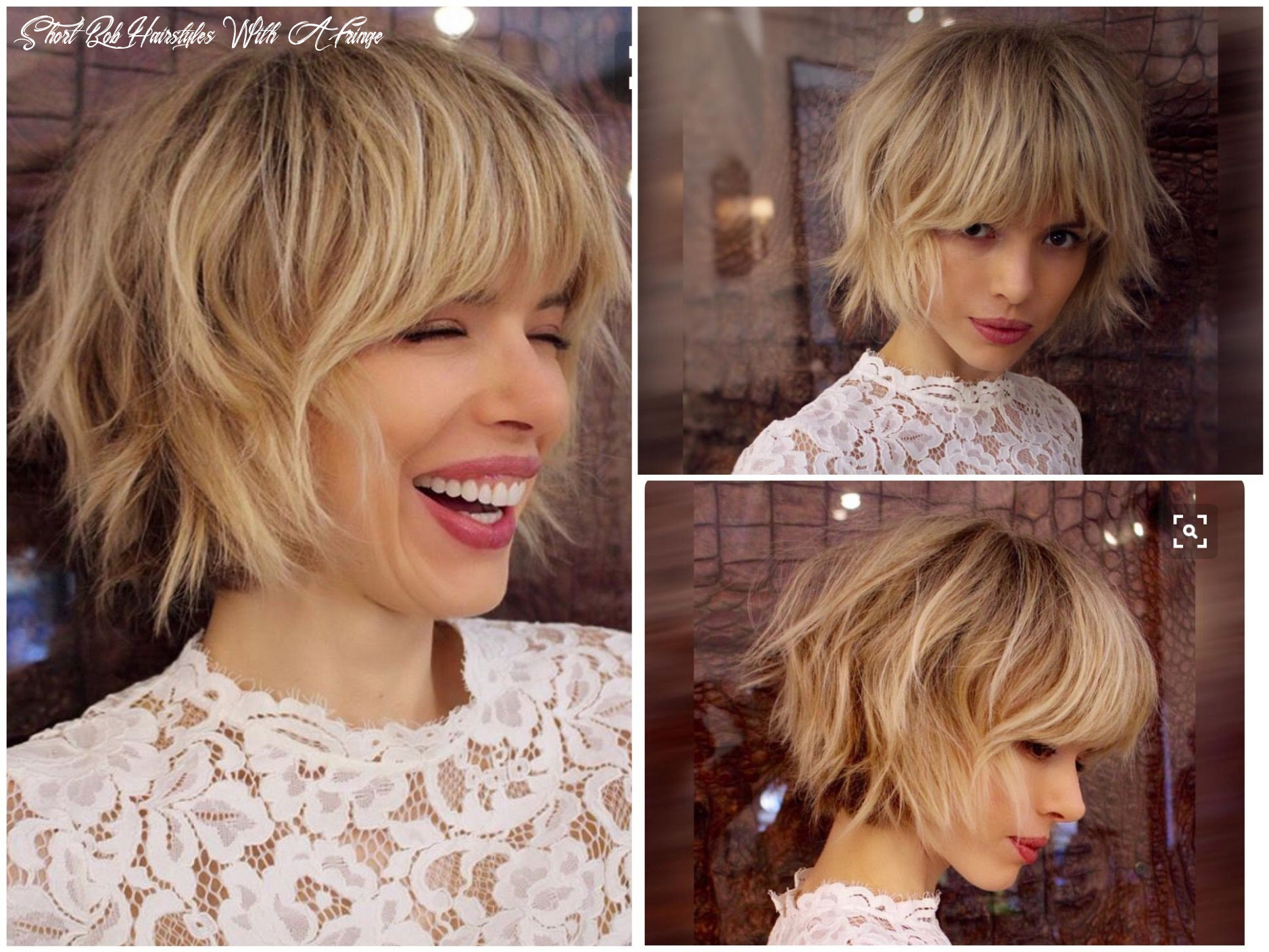 Pin on my style short bob hairstyles with a fringe