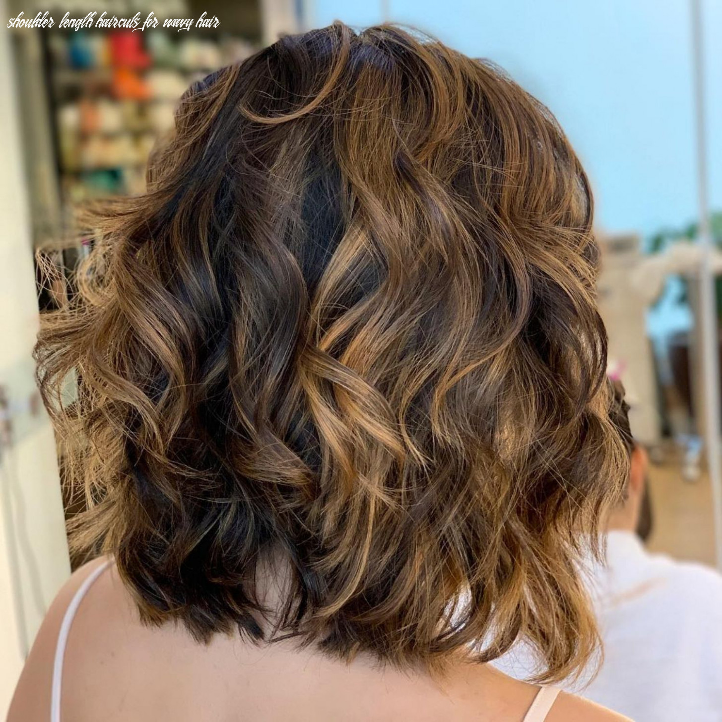 Pin on my style shoulder length haircuts for wavy hair