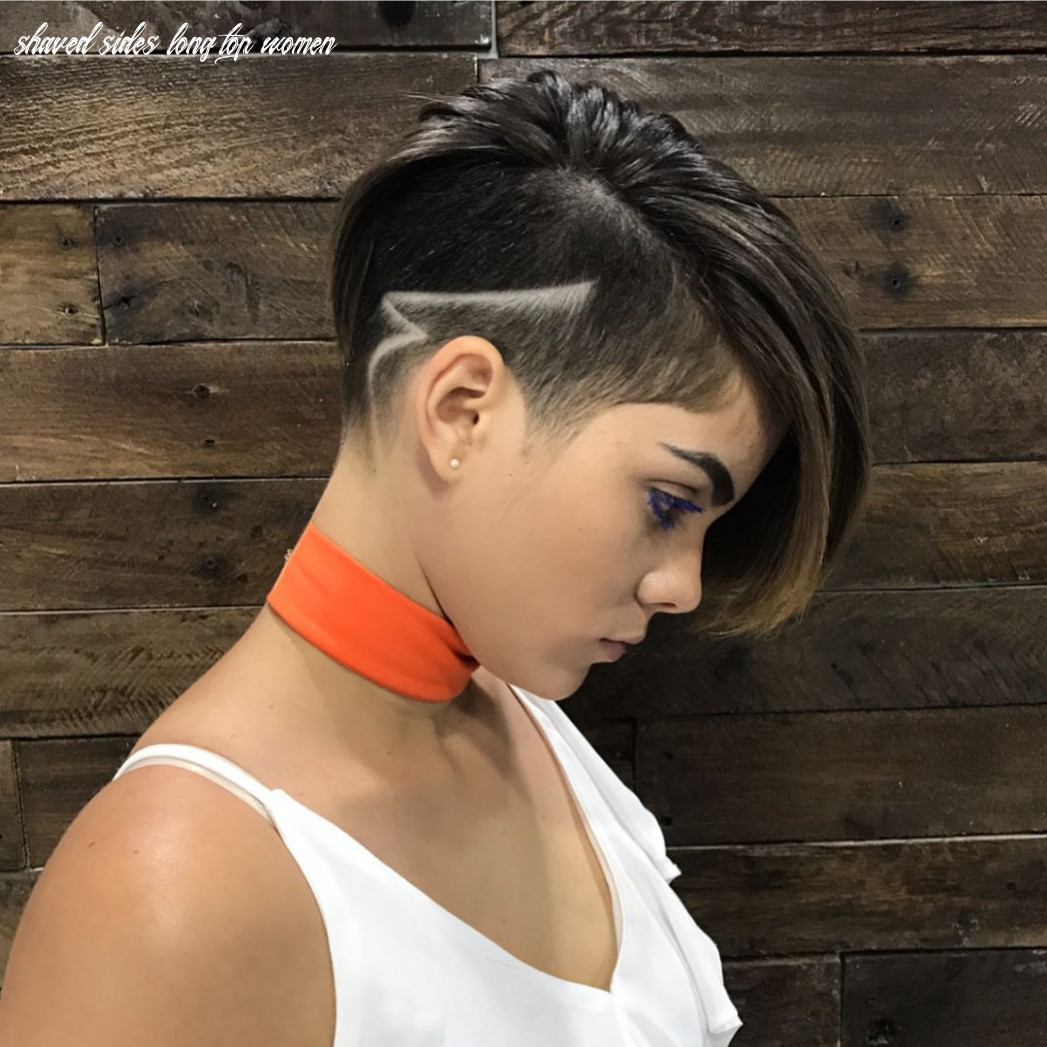 Pin on nice hairstyles for me shaved sides long top women
