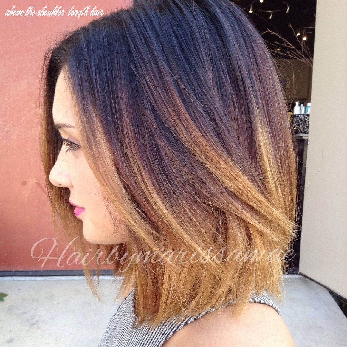 Pin on one length above shoulders above the shoulder length hair