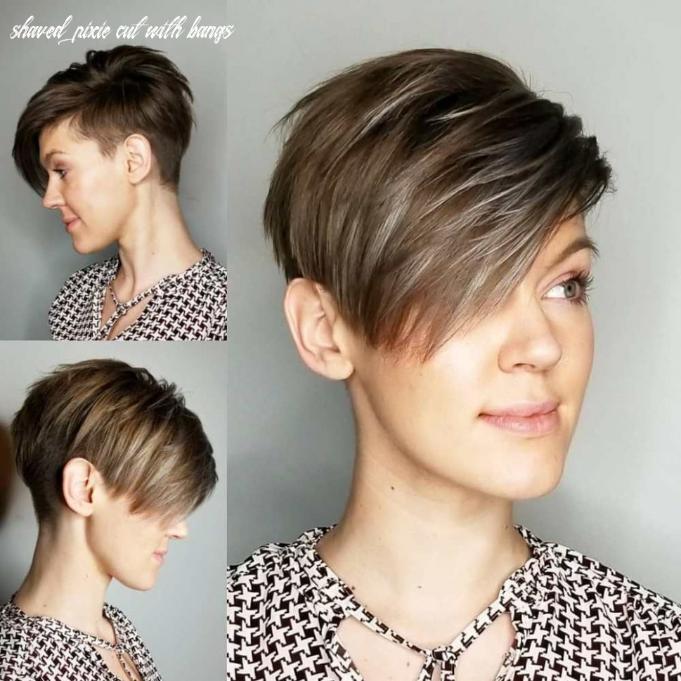 Pin on perfect pixies shaved pixie cut with bangs