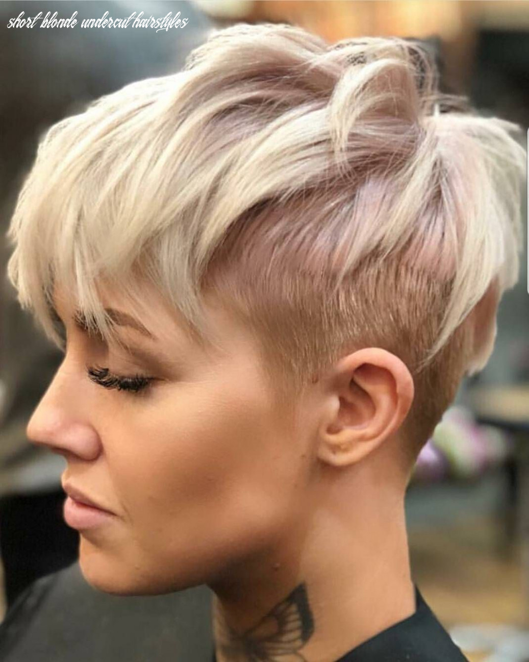 Pin on pixie perfection short blonde undercut hairstyles