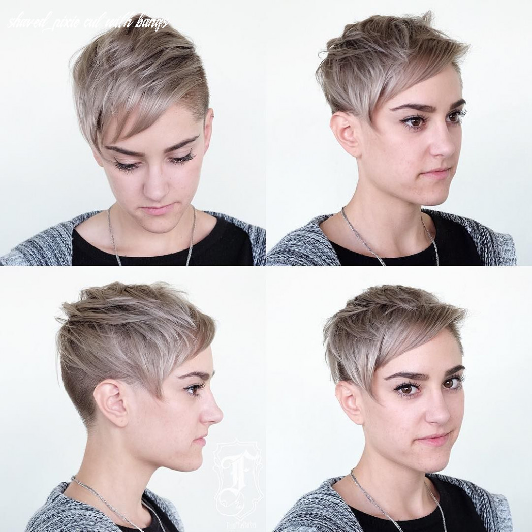 Pin on pixies & short hair cuts shaved pixie cut with bangs