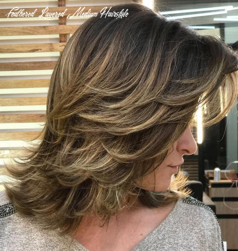 Pin on short hair feathered layered medium hairstyle
